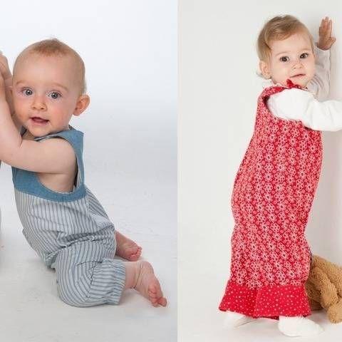 LUNA Baby Overall Schnittmuster für Mädchen + Junge | Baby ...