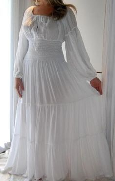 White peasant dress! | Renaissance clothing. | Pinterest | Peasant ...