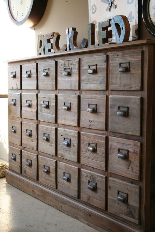 antique file cabinet storage organization workshop pinterest diy praktisch. Black Bedroom Furniture Sets. Home Design Ideas