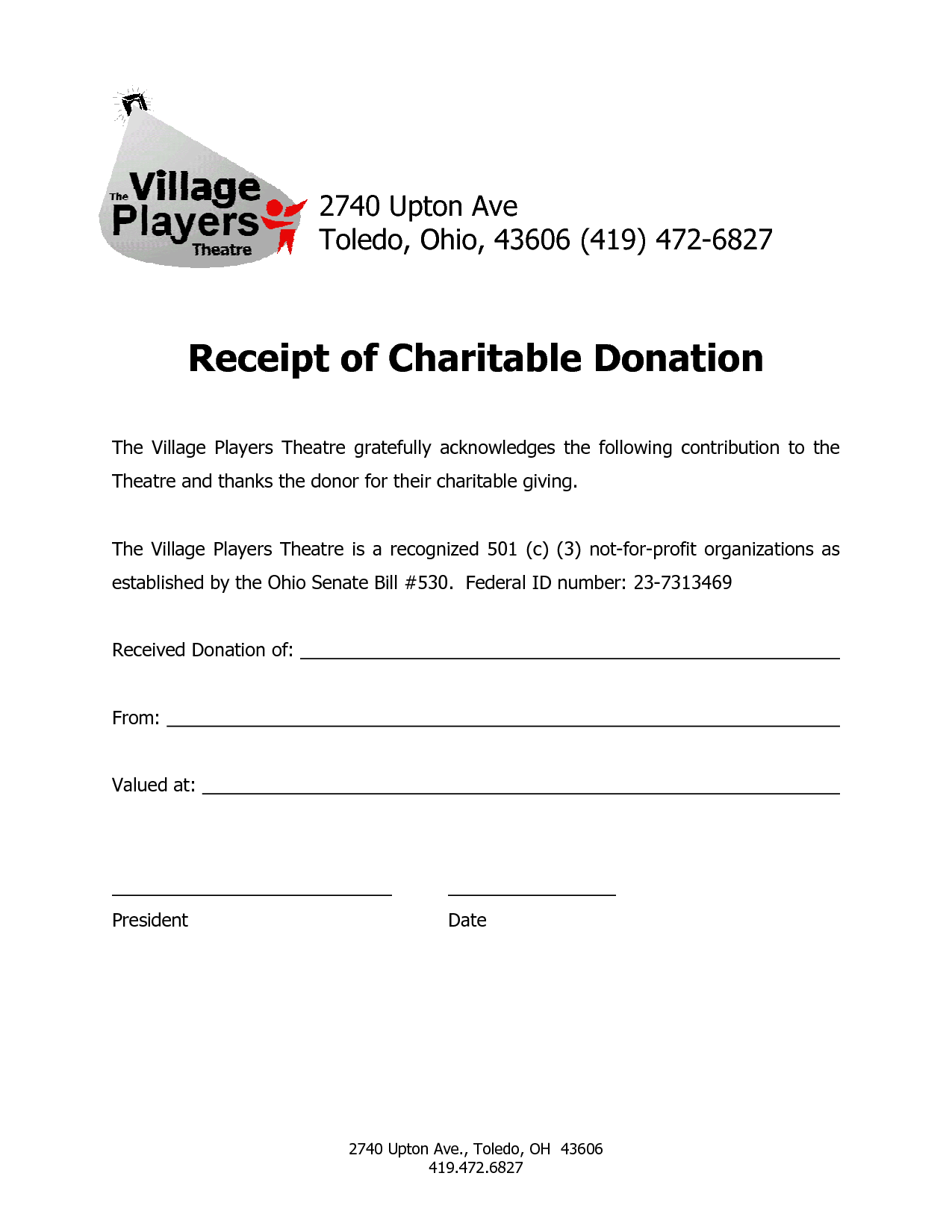 Letter Template Tax Donation Receipt And Sample Charity