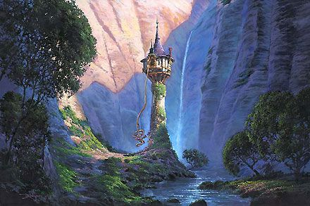Tangled - Tangled - Rodel Gonzalez - Rodel Gonzalez - World-Wide-Art.com - $595.00 #Disney #RodelGonzalez
