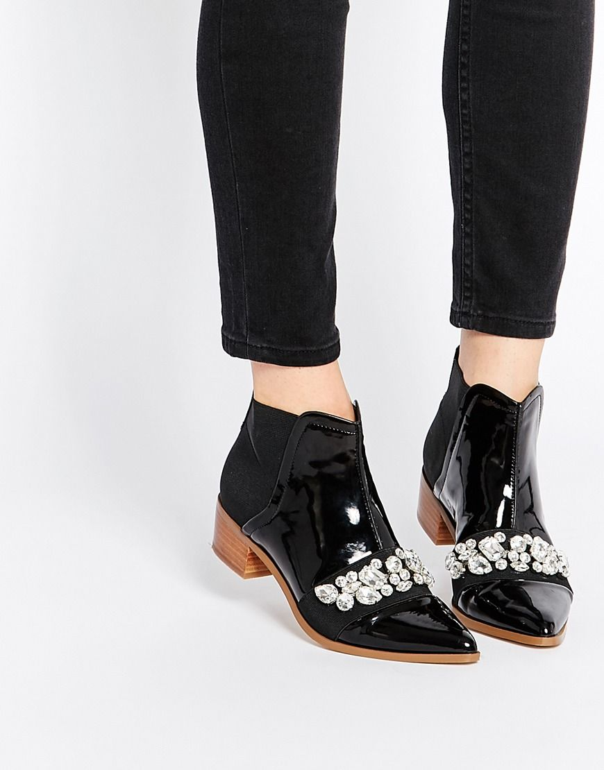 Buy Women Shoes / Asos Rock City Pointed Ankle Boots