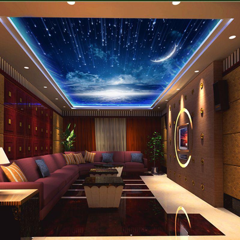 Online Get Cheap Night Sky Ceiling Wallpaper Aliexpress