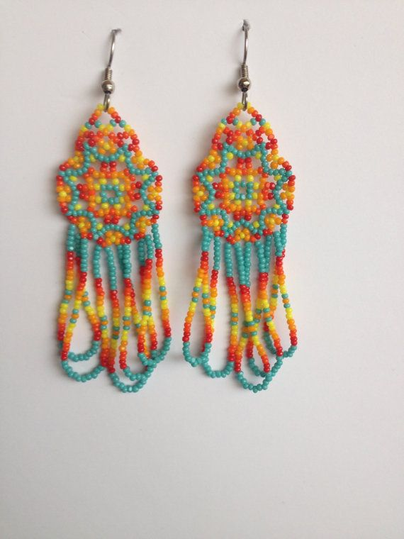 edafbaf0481a Pendientes abalorios indios americanos hechos por PeacefulBeadwork