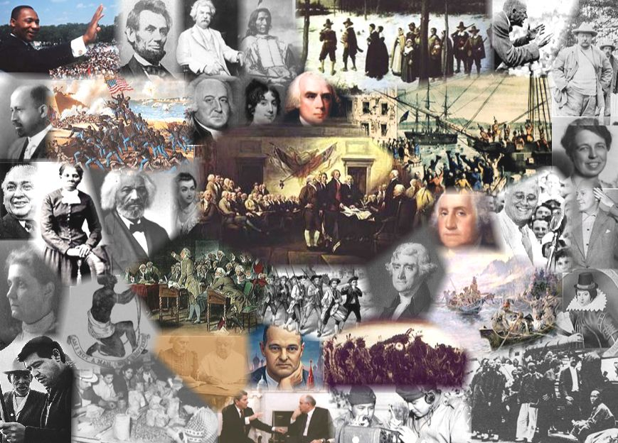 Nice collage to print for American History notebook cover ...