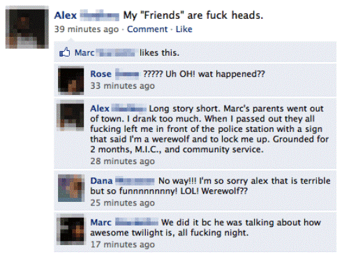 The Seven Funniest Facebook Statuses Ever