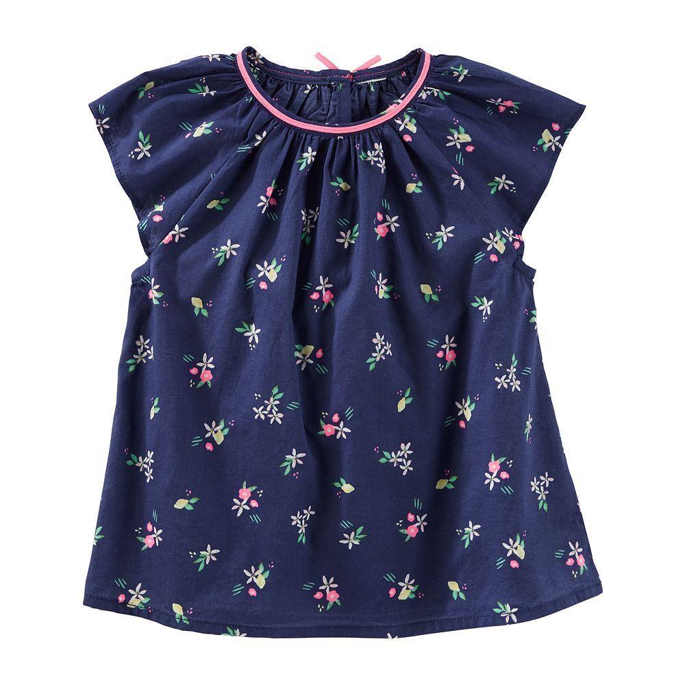Toddler Girl OshKosh B'gosh® Patterned Poplin Top, Size: 2T, Ovrfl Oth
