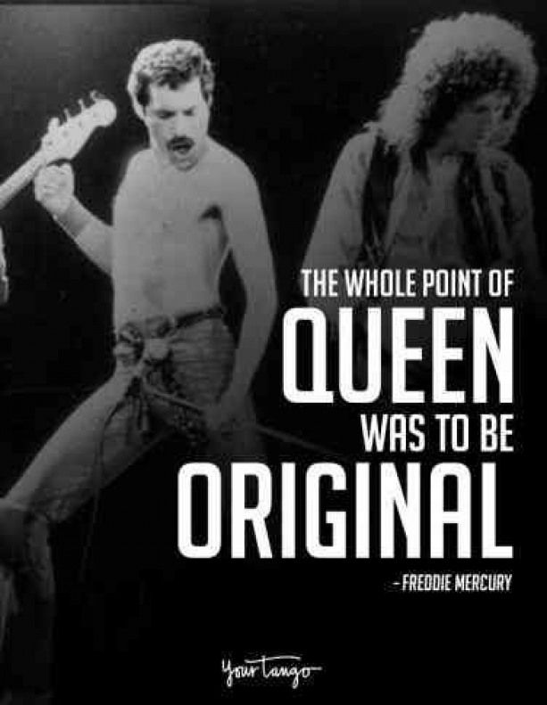 40 Best Freddie Mercury Quotes & Queen Song Lyrics Of All Time | YourTango #musicquotes #famous #music #quotes #freddiemercuryquotes