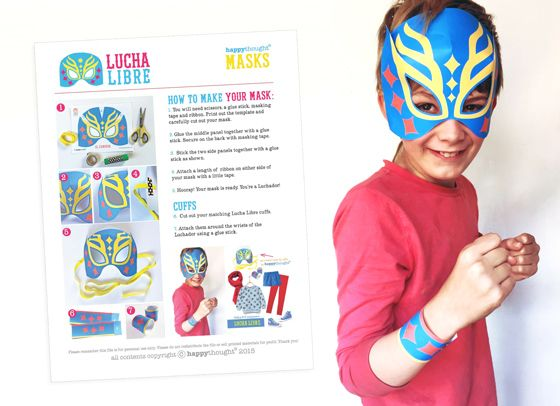 lucha libre mask and cuff instructions костюмы pinterest