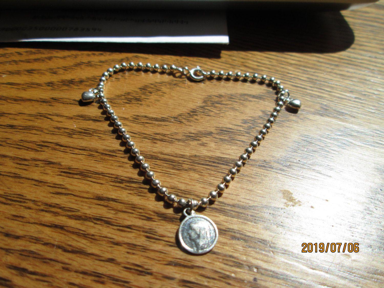 Designer sterling silver beaded bracelet added charms