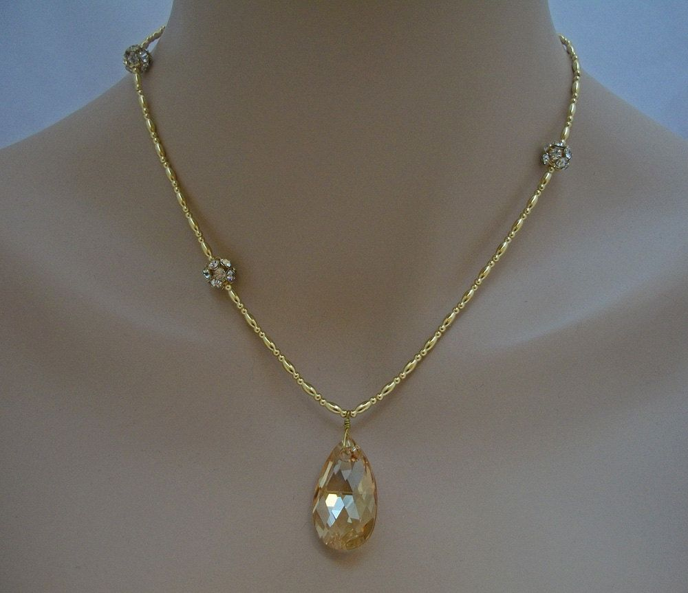Amber Necklace - Frosting Bridal