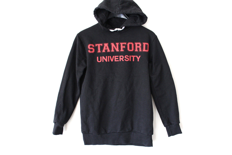 Vintage Stanford University Sweatshirt Black Hoodie College Sweater Retro Pullover Hip Hop Streetwear S Sweatshirts College Sweater University Sweatshirts [ 2000 x 3000 Pixel ]