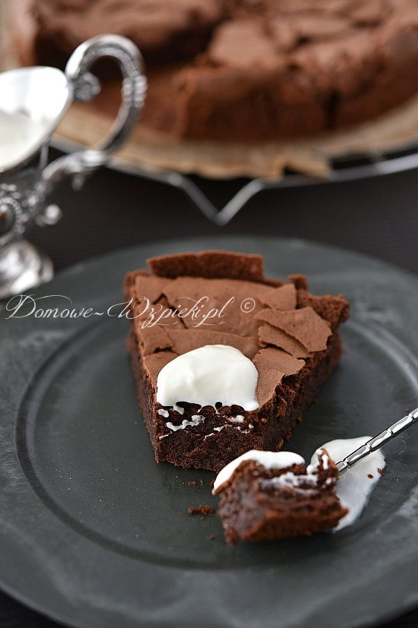 Ciasto Czekoladowe Bez Mąki łakocie Przepisy Desery Ciasta