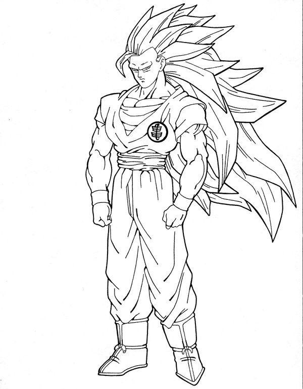 goku as super saiyan iii i enjoyed drawing this one took my time