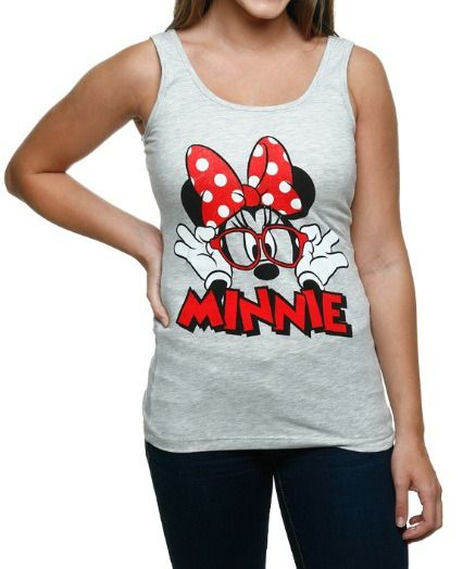 Womens Minnie Mouse Glasses Tank Silhouette Shirt Ideas In 2018