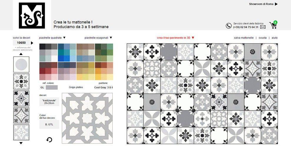 piastrelle, effetto patchwork, simulatore online, | Ark ...