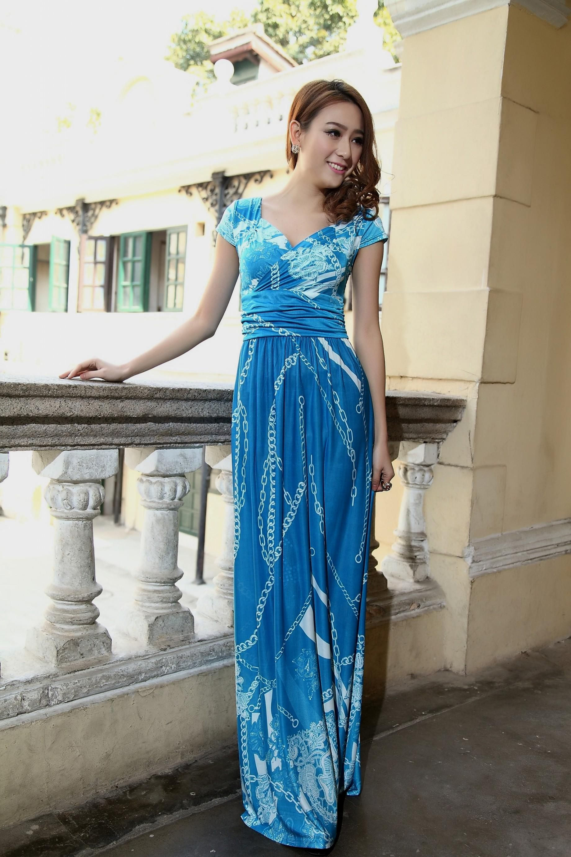 Blue Summer As Plus Size Maternity Dresses For Baby Shower,
