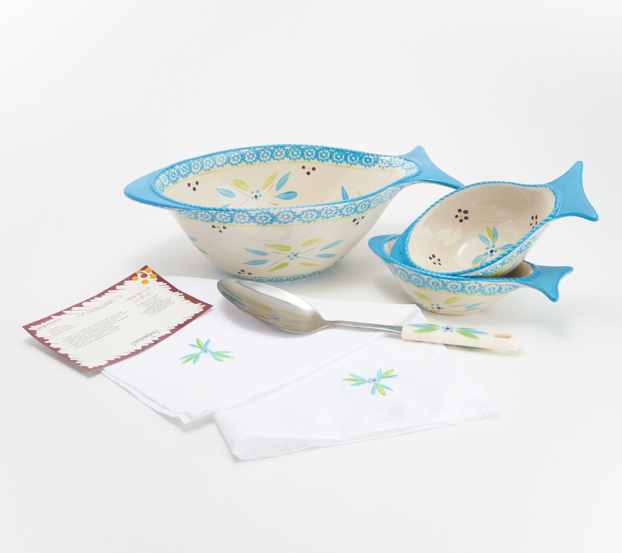 Soup Tureen Temp-tations 4.5 qt Bowl w/Wire Stand & Ladle Punch ...