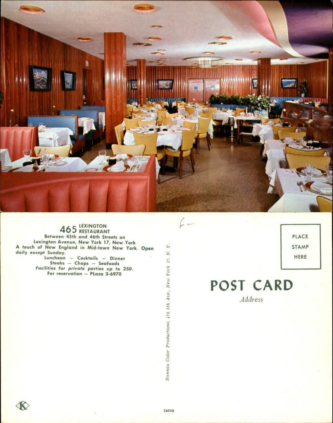 Lexington Avenue Restaurant Between 45th And 46th St New York Ny Unused Ebay