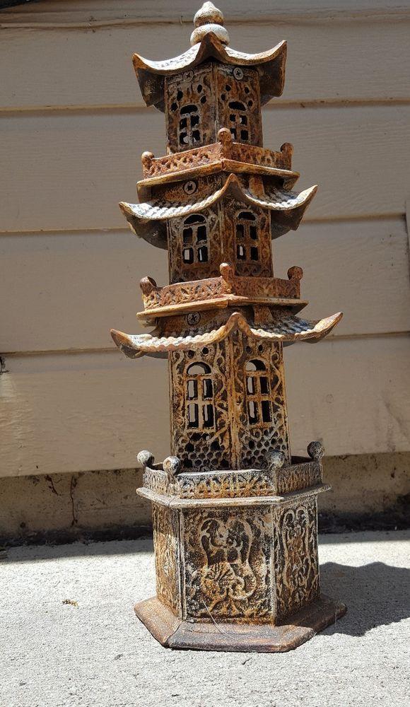 Chinese Lantern House Dark Garden Ornament