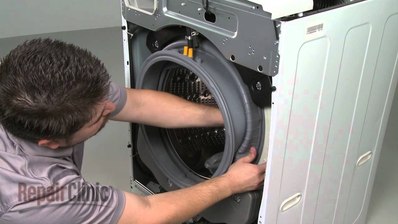 Replace lg frontload washer door boot seal mds youtube