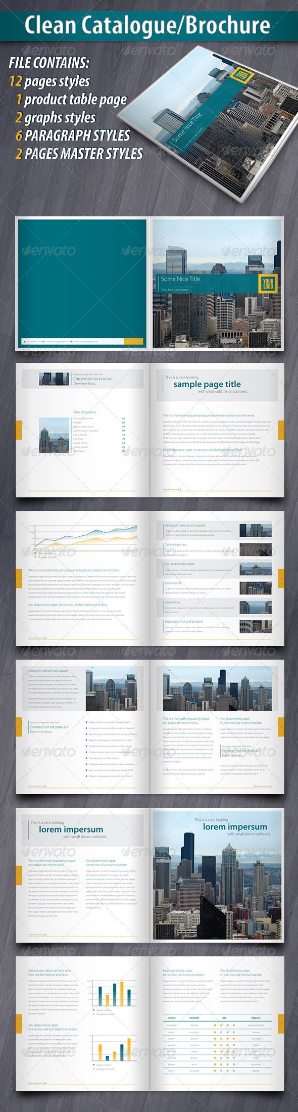 Clean Catalogue/Brochure - GraphicRiver Item for Sale
