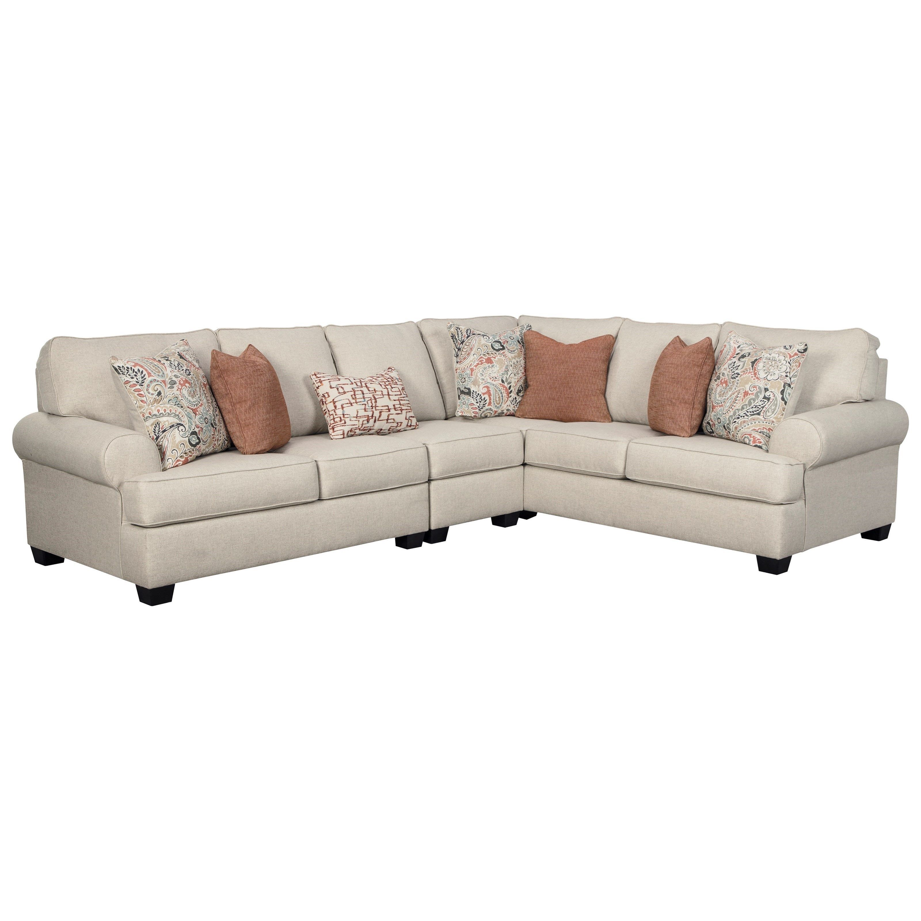 Amici 3 Piece Sectional By Signature Design By Ashley At Royal Furniture Value City Furniture Amici 3 Piece Sectional With Rolled Arms By Signature Design By A