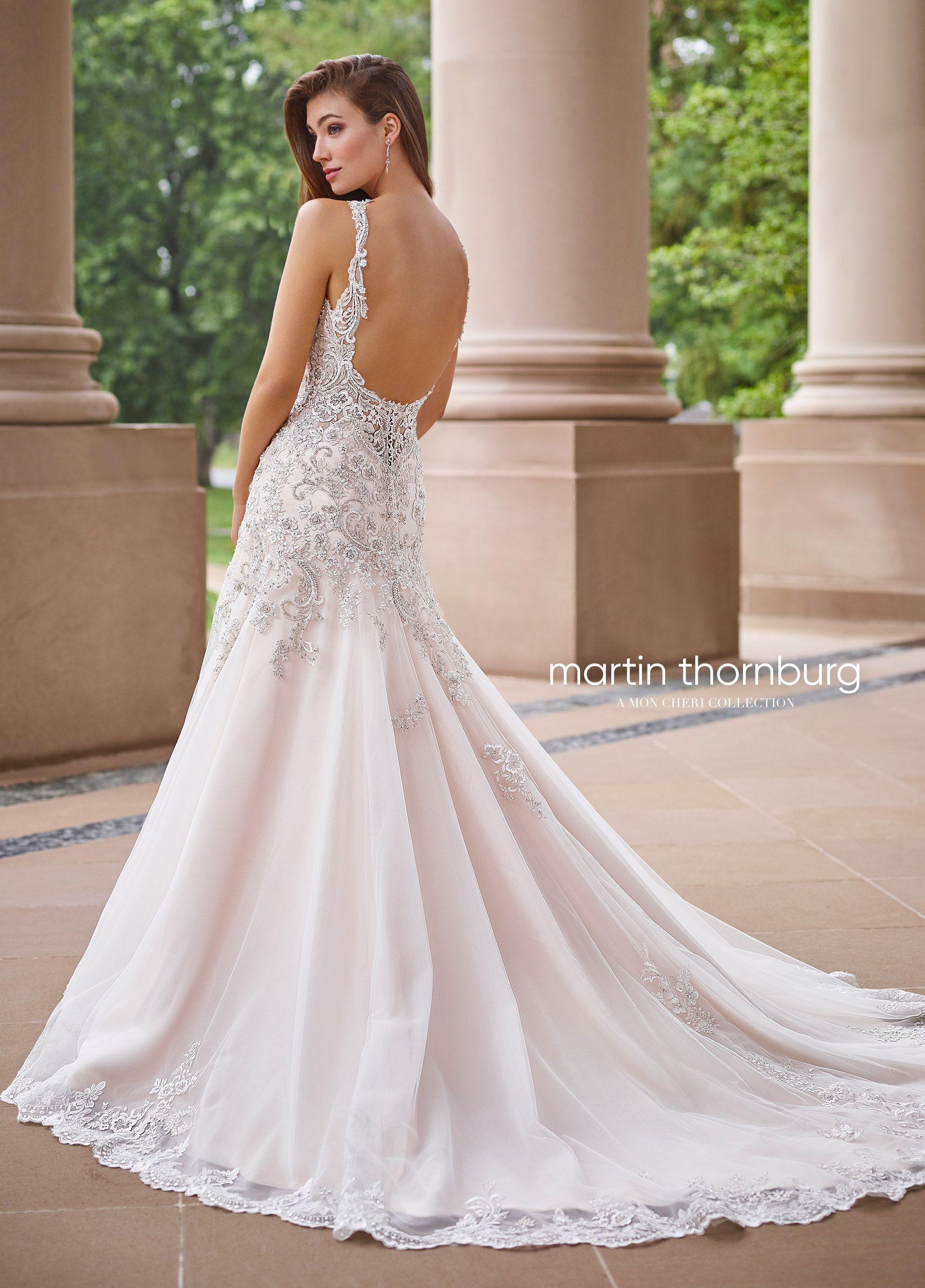 93d224fc9f6c Beaded Tulle   Lace Fit   Flare Wedding Gown- 118260 Minuet ...