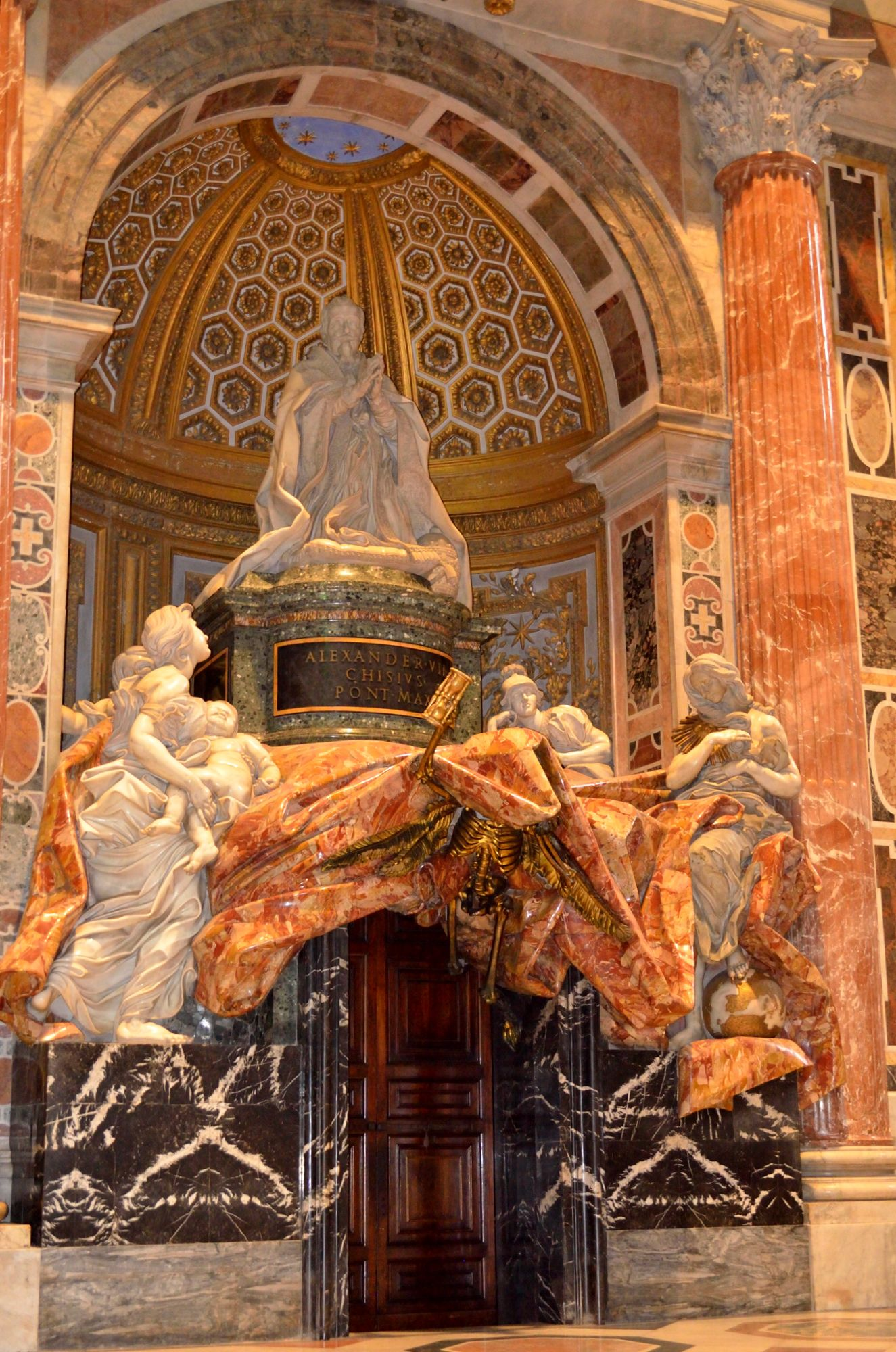 Bernini; Tomb Of Pope Alexander VII, 1671–78, St. Peter's