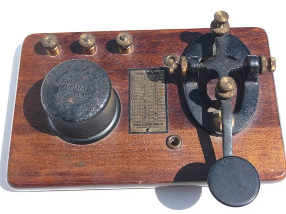 Antique Morse Code Telegraph Key With Buzzer KOB Signal