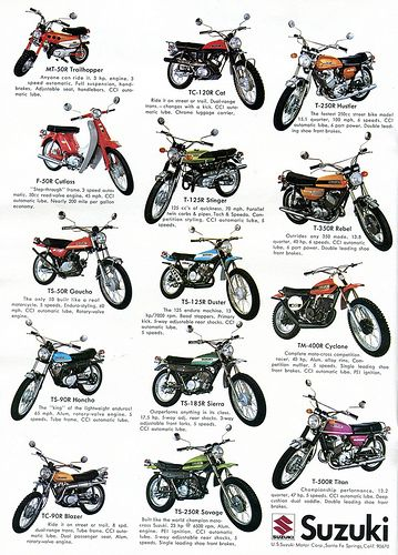 1971 Suzuki Motorcycles Advertising Hot Rod Magazine March 1971