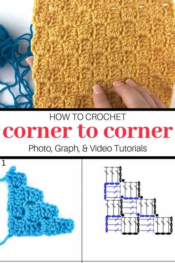 Corner to Corner Crochet (C2C) for Beginners - Winding Road Crochet