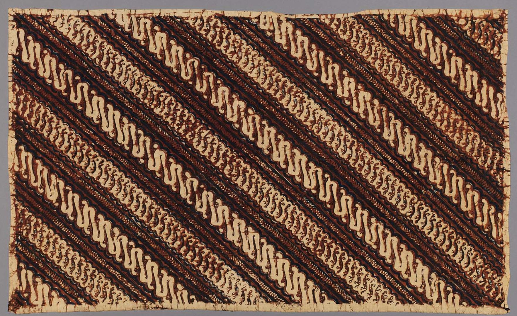 Indonesian (Javanese) Batik Tjap Batik Stamped using the