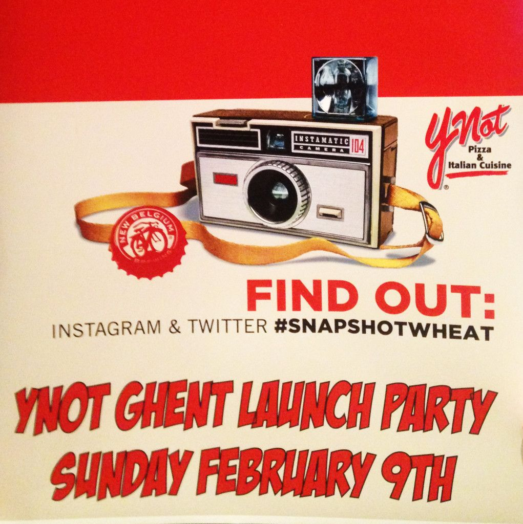 Join Ynot Pizza Italian Cuisine In Celebrating The Launch Of New Belgium S Snapshot Wheat Www Ynotpizza Com Snapshotw Product Launch Cuisine Italian Pizza