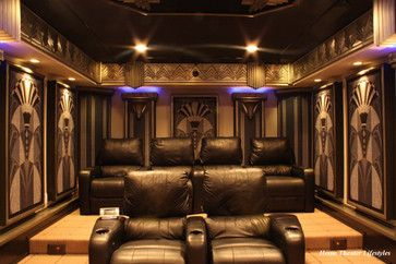Art deco home theatre architecture design