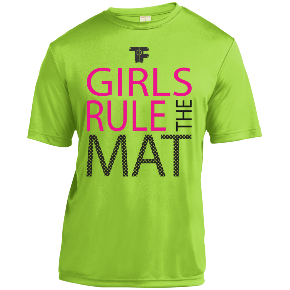 Premium Green Tech Fall Youth Wrestling T Shirt Girls Rule The Mat This Shirt Is A Tip Of The Hat To The Wrestling Shirts Girls Rules Moisture Wicking Shirt