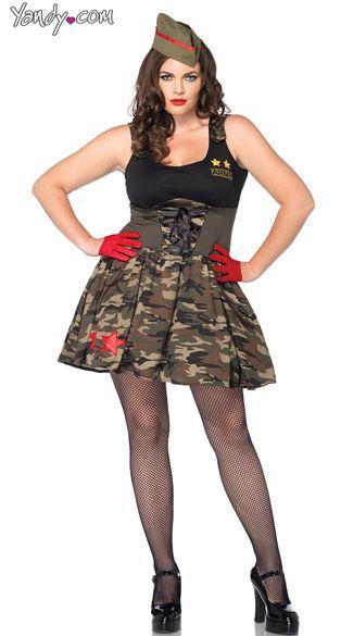 4afe5b08279ab Plus Size Combat Cutie Costume