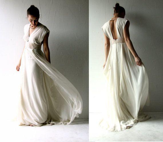 Brautkleid Alternativ | Sample Sale Wedding Dress Boho Wedding Dress Backless Wedding