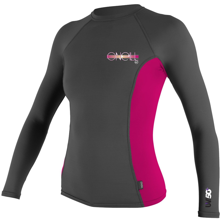O Neill Wetsuits Women S Basic Skins Long Sleeve Crew Surf Shirt Womens Wetsuit Rash Guard Women Sun Shirt