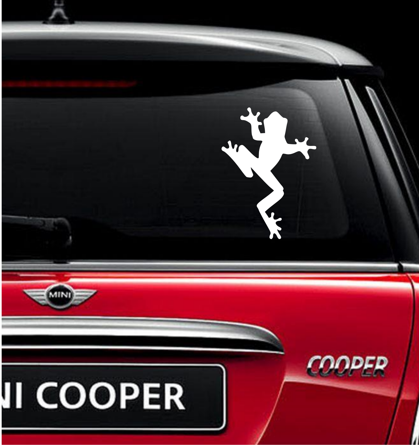 Tree frog vinyl decal for car and truck windows sticker gift forest am clearskydesigns