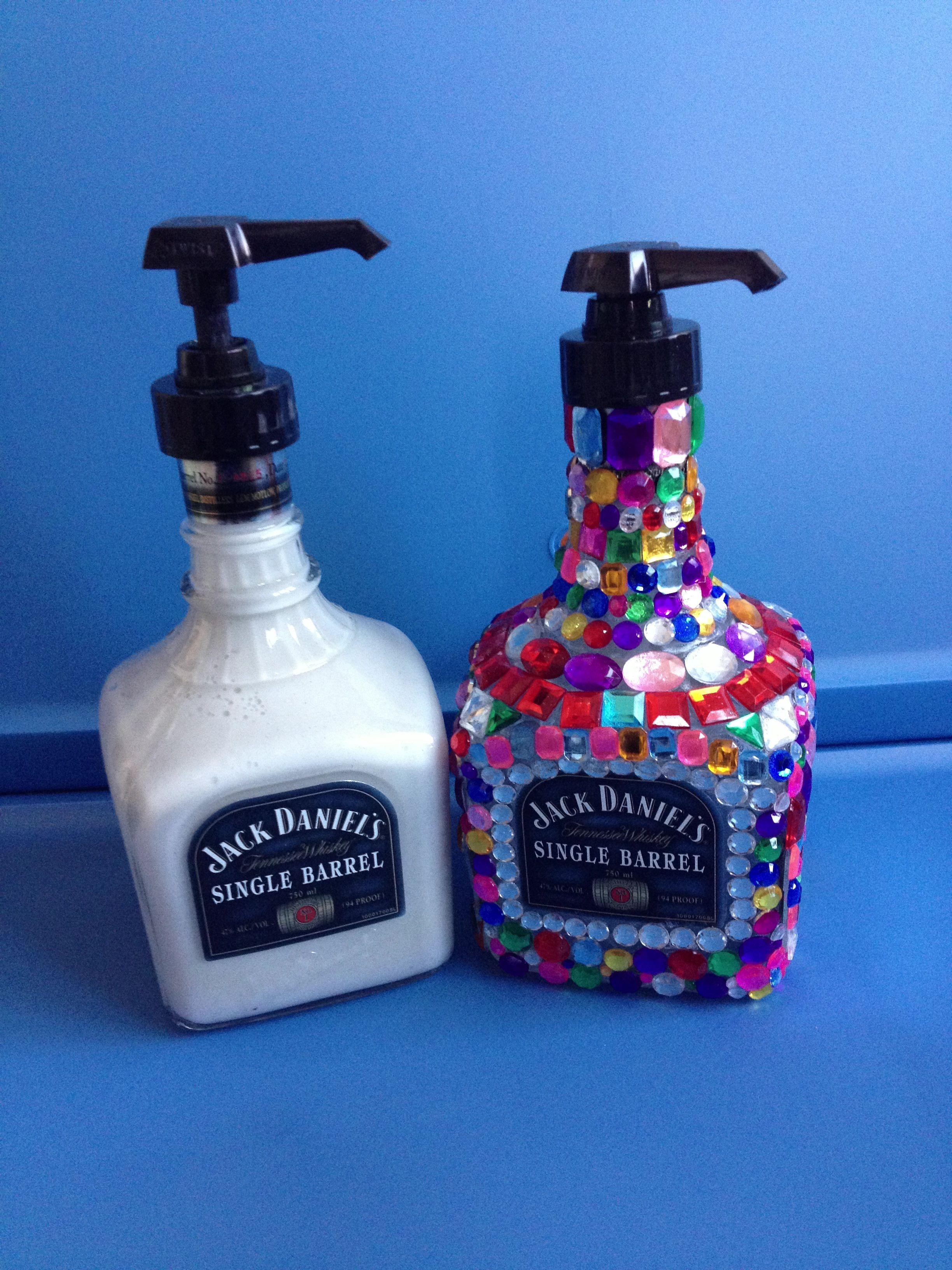 Diy Alcohol Bottle Into A Soap Dispenser No Bathroom In The Man