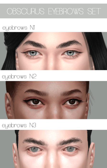 821fef88640c6 Realistic Eyebrows Set for The Sims 4   The Sims 4 downloads, cc ...