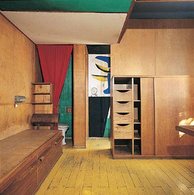 architecture int rieur le corbusier 1951 le cabanon roquebrune cap martin 1950s artiste. Black Bedroom Furniture Sets. Home Design Ideas