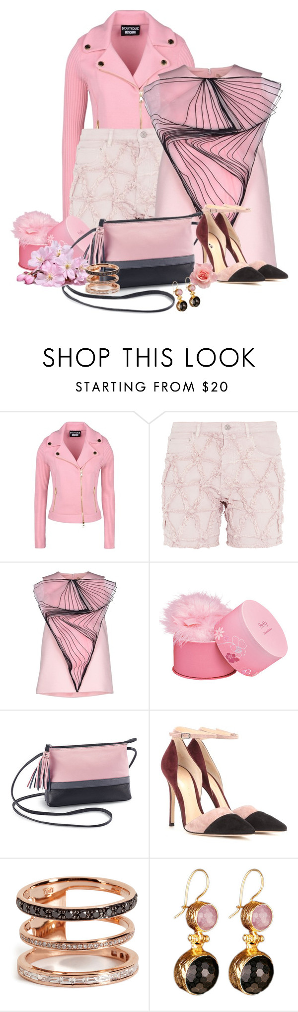 """""""Spring is on the way"""" by nutgirl ❤ liked on Polyvore featuring Boutique Moschino, Isabel Marant, Christopher Kane, Elizabeth Arden, Gianvito Rossi, Nikos Koulis, women's clothing, women, female and woman"""