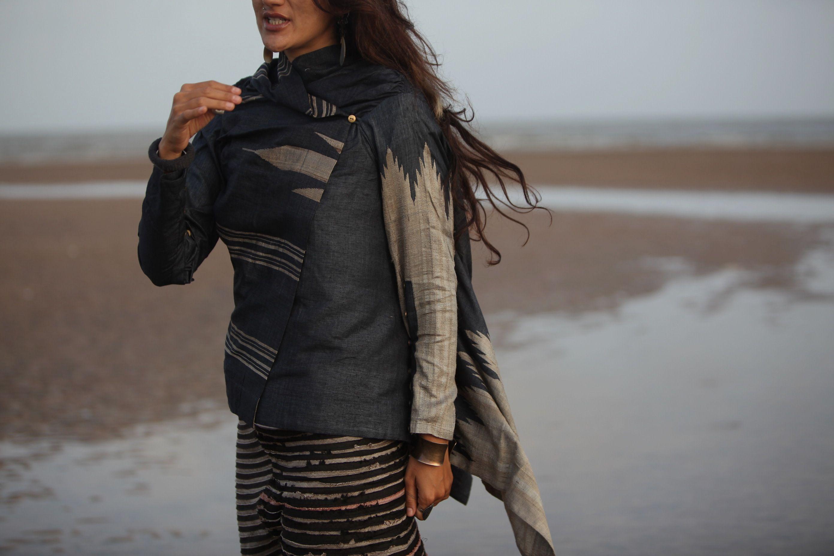 ::: windy jacket : charcoal ::: zero wastage skirt : charcoal ::: padmaja : 2010 :::