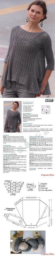 вязание туники Lush & lacy trapeze из журнала Knitter's