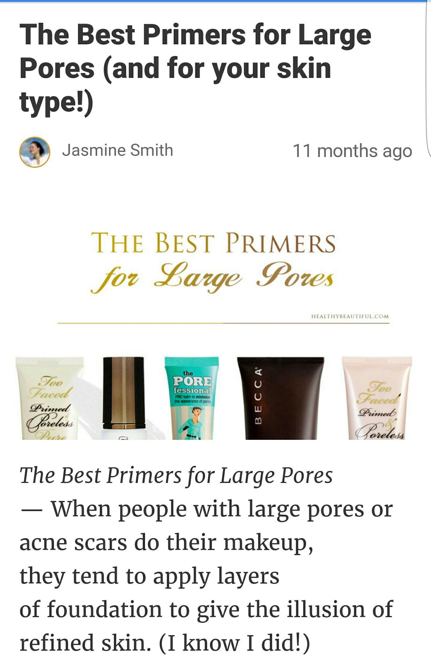 Face primers for large pores Best primer, Primer, Face