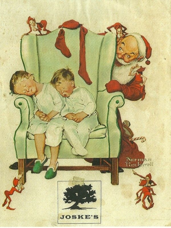 norman rockwell color copy print 1970 u0027s night before christmas