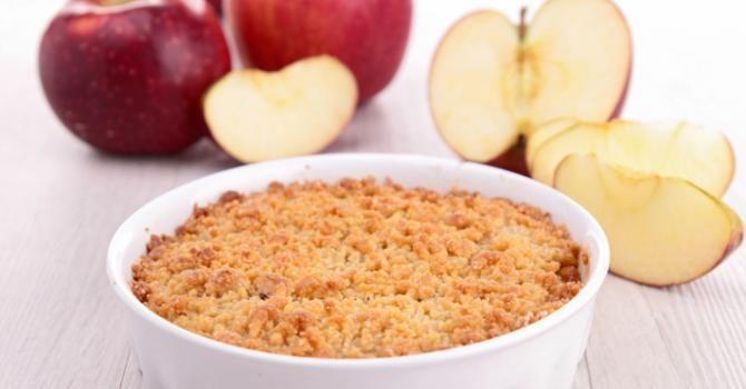 Recette de Tarte aux pommes façon crumble. Facile et rapide à réaliser, goûteuse et diététique. Ingrédients, préparation et recettes associées.