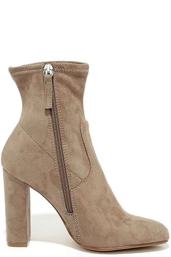c138c2c87f9 Steve Madden Edit Taupe Suede High Heel Mid-Calf Boots | Shoes | Mid ...
